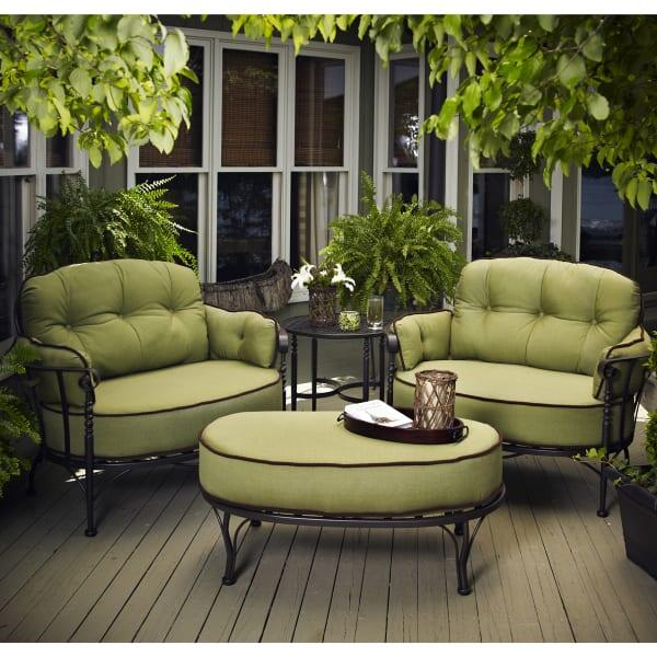 Athens Deep Seating by Meadowcraft - Wrought Iron Patio Furniture Patio Furniture Family Leisure