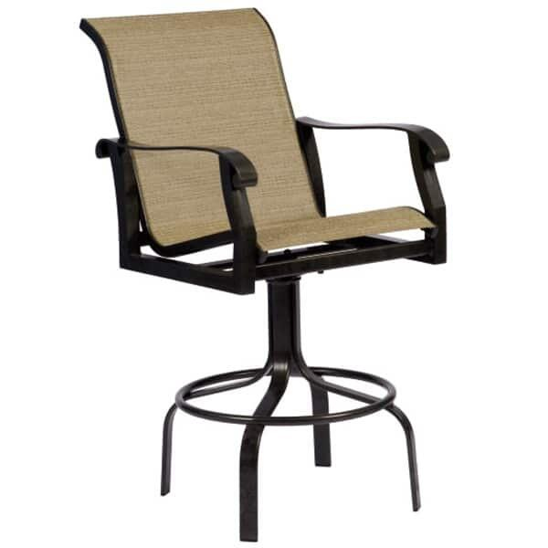Cortland Sling Swivel Bar Stool By Woodard