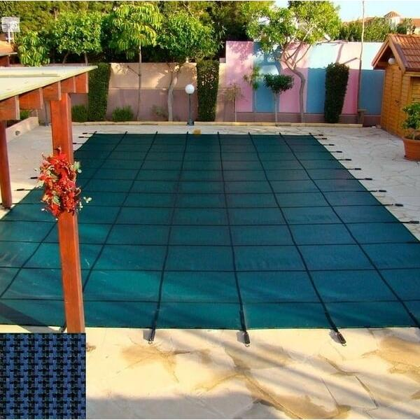 Rectangle Safety Cover - Blue Mesh by Coverlon