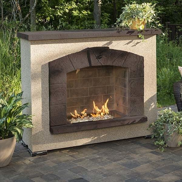 Stone Arch Gas Fireplace by Outdoor GreatRoom