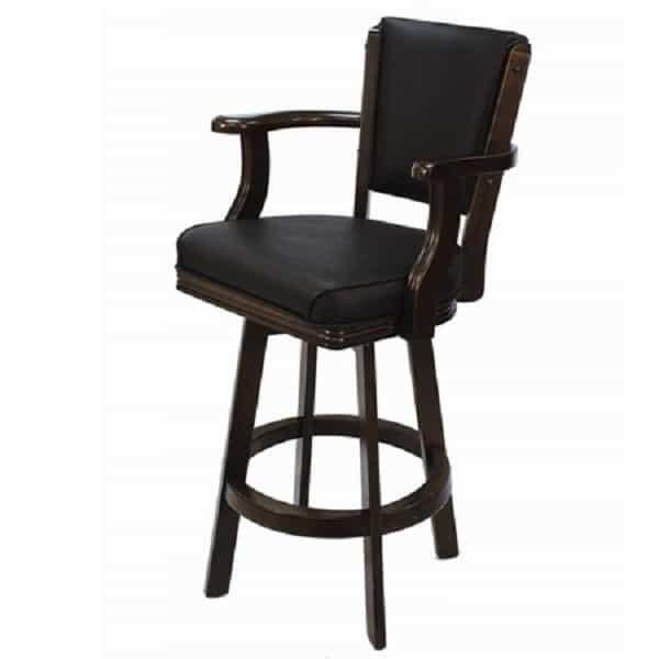 Backed Swivel Bar Stool - Cappuccino by R.A.M. Game Room