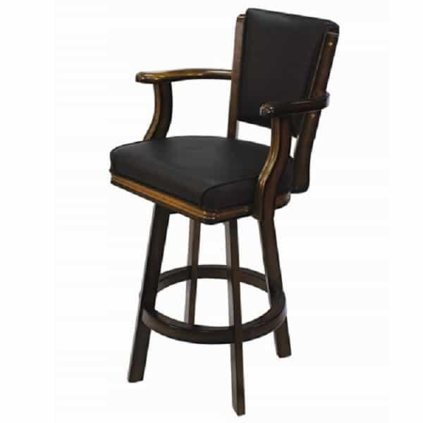 Backed Swivel Bar Stool - Chestnut by R.A.M. Game Room