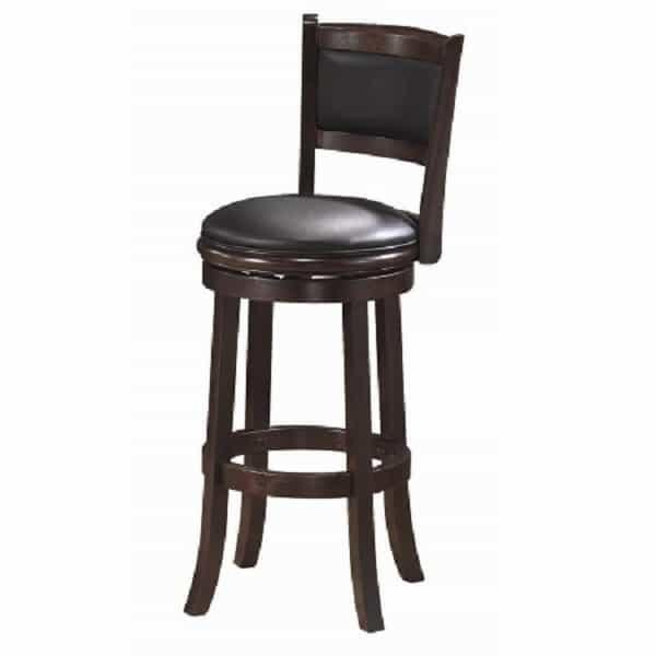 Backed Bar Stool - Cappuccino by R.A.M. Game Room