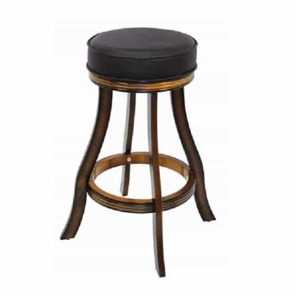 Backless Bar Stool - Chestnut by R.A.M. Game Room