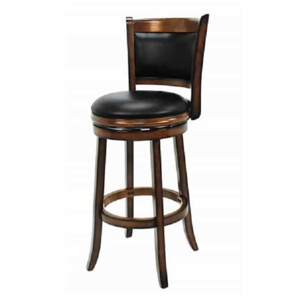 Backed Bar Stool - Chestnut by R.A.M. Game Room