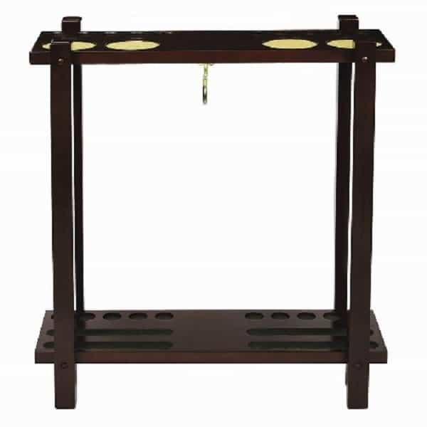 Straight Floor Cue Rack - English Tudor by R.A.M. Game Room