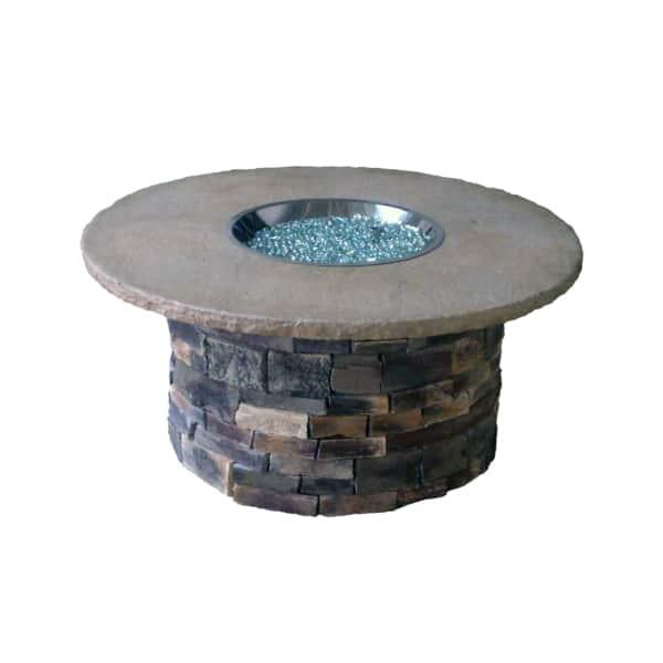 Wolf Creek Stone Fire Pit by Leisure Select