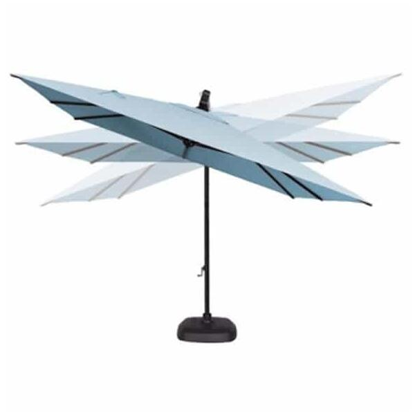 10' AKZ Square Cantilever Umbrella by Treasure Garden