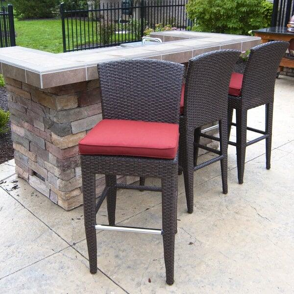 Island Counter Height Stools Set of Two by Leisure Select - Counter / Balcony Height Patio Furniture Family Leisure