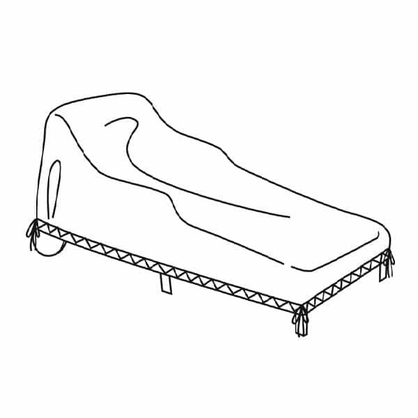 Small Chaise Lounge Cover by Treasure Garden