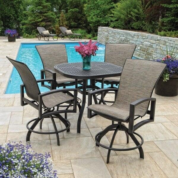 Havenhill sling dining for Homecrest patio furniture
