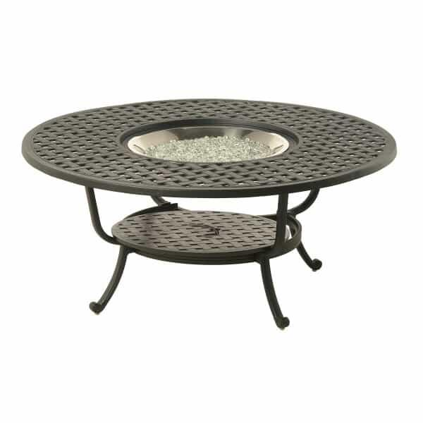 "Newport 48"" Round Gas Fire Pit Table by Hanamint"