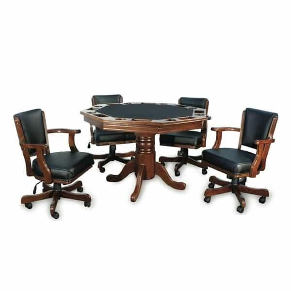 Octagonal Two-In-One Poker Table Set by Presidential Billiards