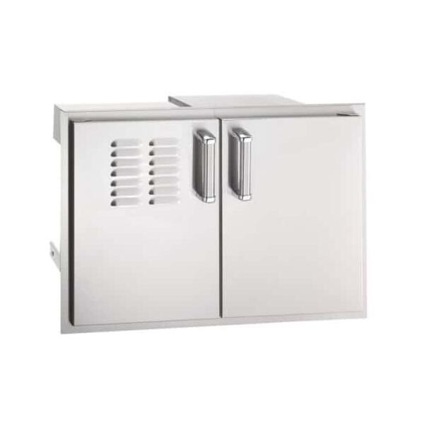 Double Doors with Tank Tray & Dual Drawers by Fire Magic Grills