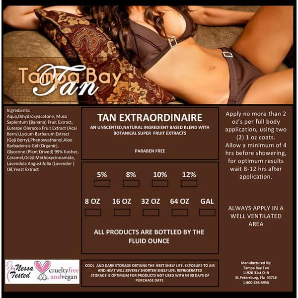 Tan Extraordinaire Spray Tan Solution by Tampa Bay Tan