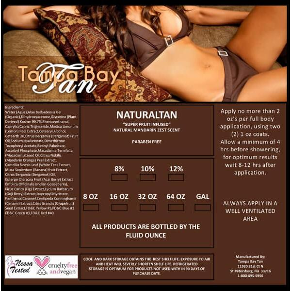 Natural Tan Spray Tan Solution by Tampa Bay Tan