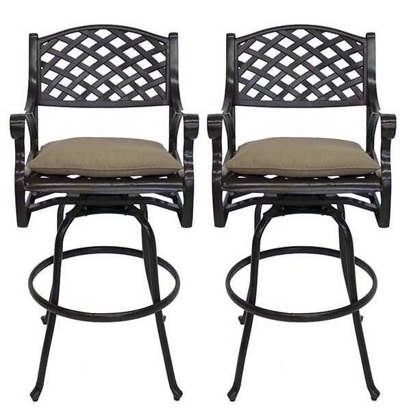 Amazing Value on a Set of Cast Aluminum Outdoor Bar Stools