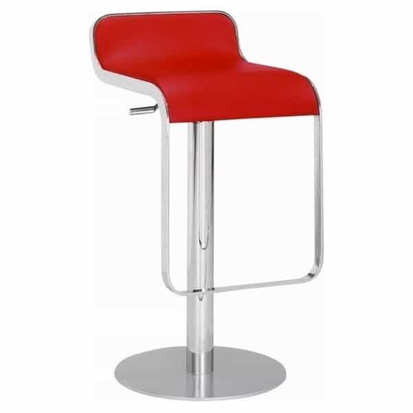 Equino Bar Stool - Red by Zuo Modern