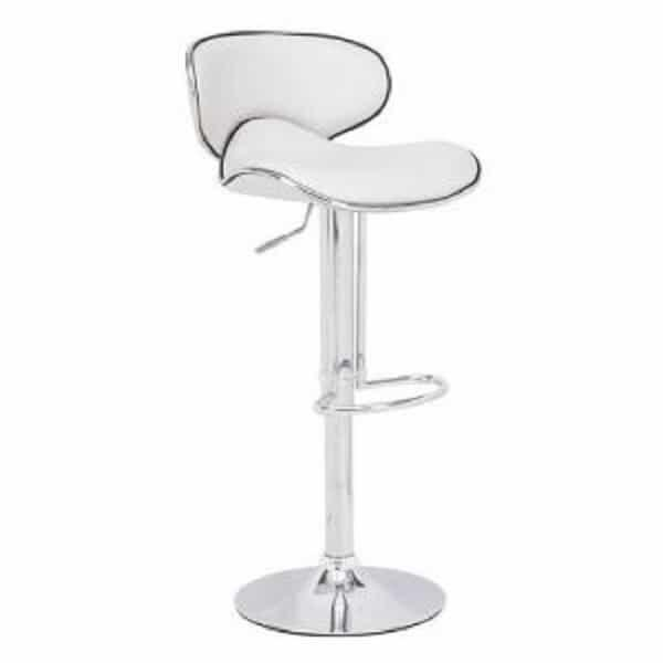 Fly Bar Stool - White by Zuo Modern