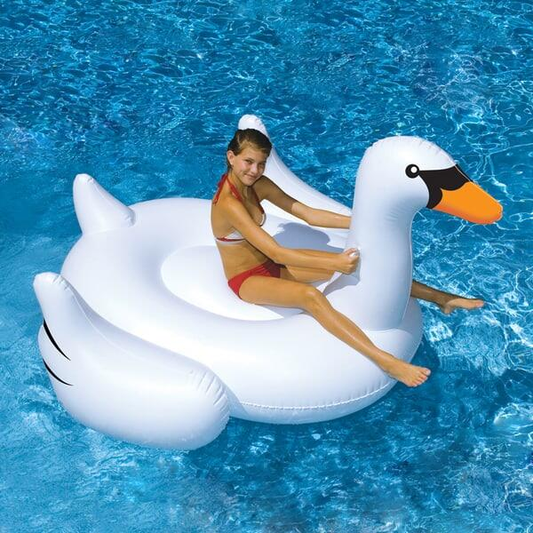 Giant Ride On Inflatable Swan by Swimline