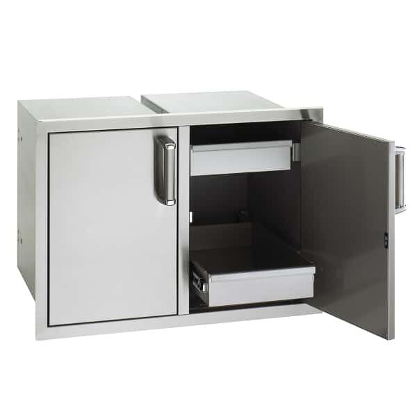 Double Doors with Trash Tray & Dual Drawers by Fire Magic Grills