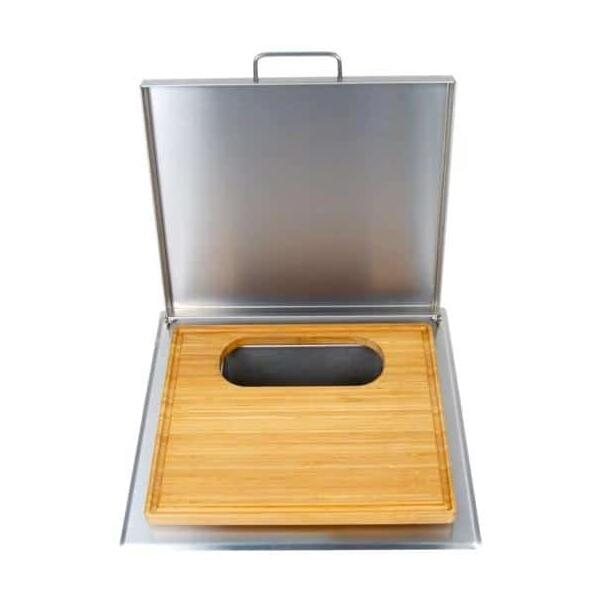 Trash Chute & Cutting Board by Fire Magic Grills