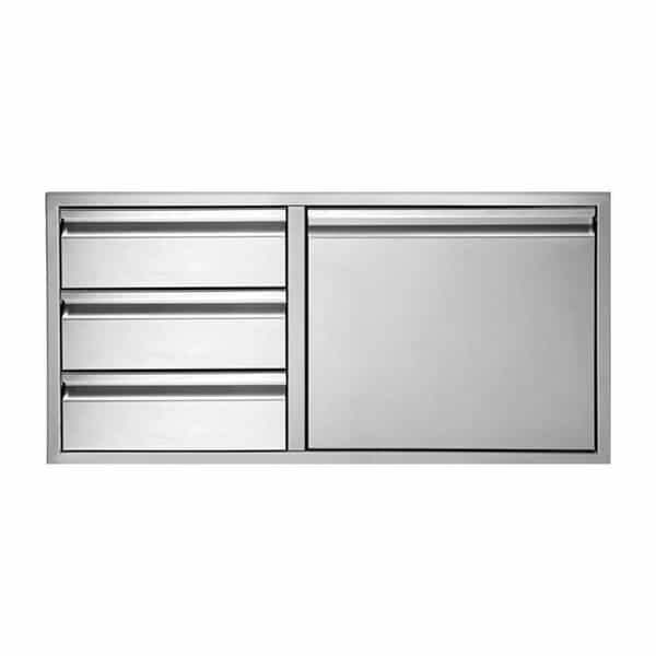 "36"" Three-Drawer-Door Storage Combo by Twin Eagles Grills"