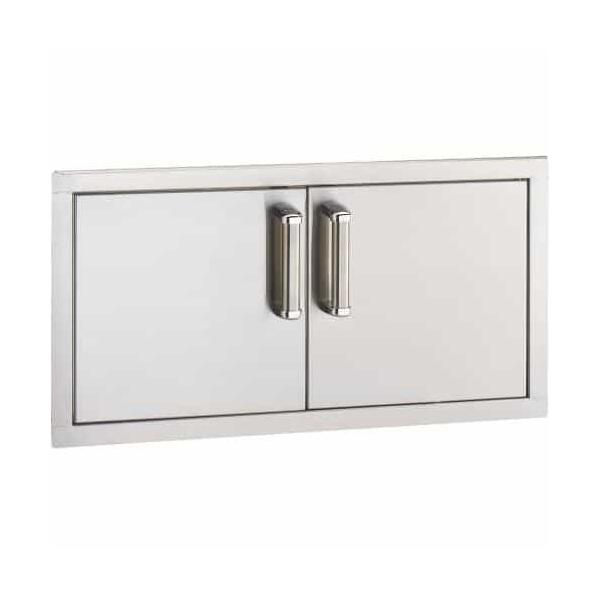 Flush Mounted Reduced Height Double Access Doors by Fire Magic Grills