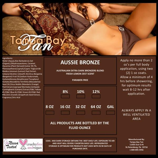 Aussie Bronze Airbrush Tanning Solution Sample by Tampa Bay Tan