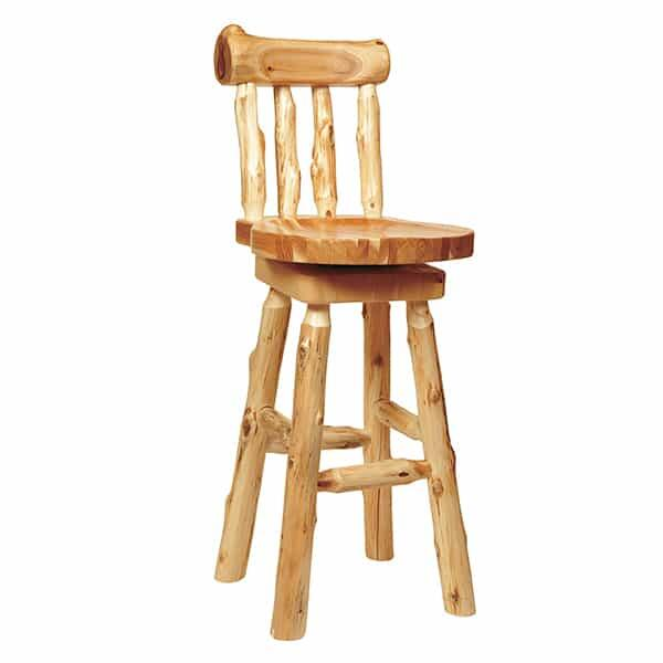 Cedar Log Counter Stool by Fireside Lodge Furniture