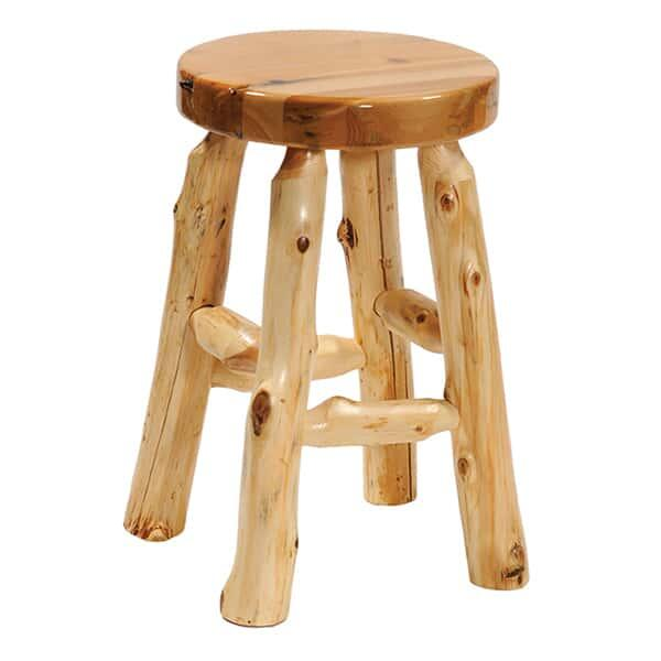 Cedar Round Bar Stool by Fireside Lodge Furniture