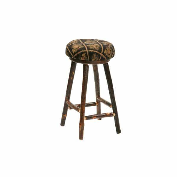 Hickory Round Upholstered Bar Stool by Fireside Lodge Furniture