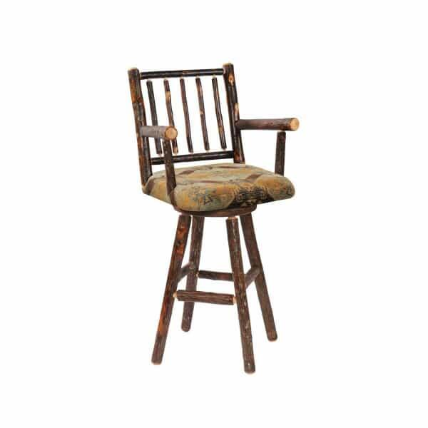 Hickory Swivel Bar Stool by Fireside Lodge Furniture