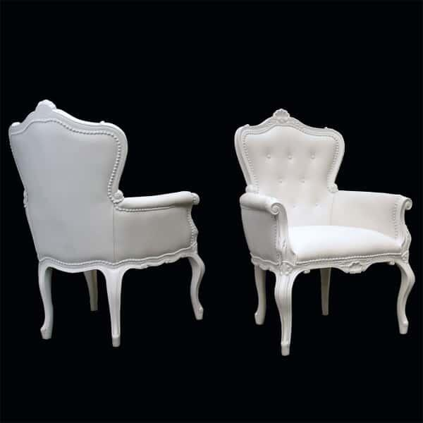 Gentle Anna Armchair - White by Polart