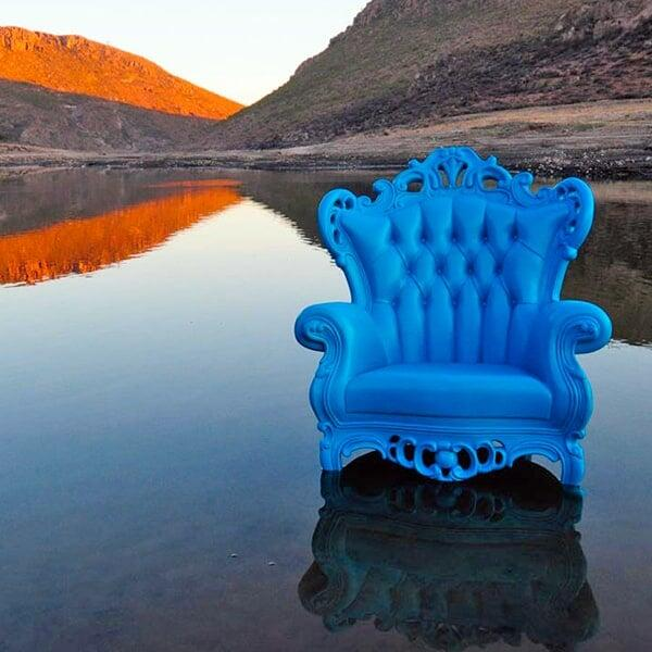 Luigi Armchair - Blue by Polart
