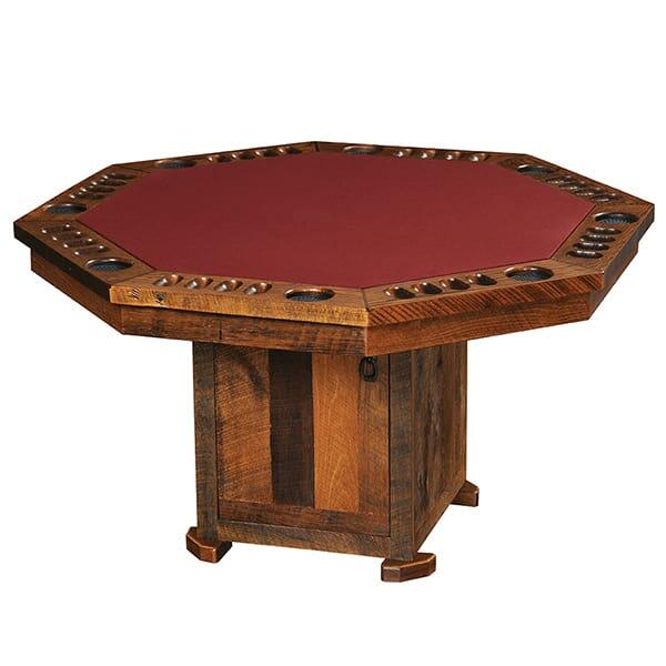 Barnwood Poker Table by Fireside Lodge Furniture
