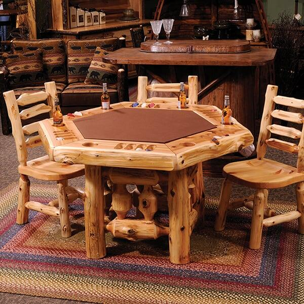 Cedar Poker Table