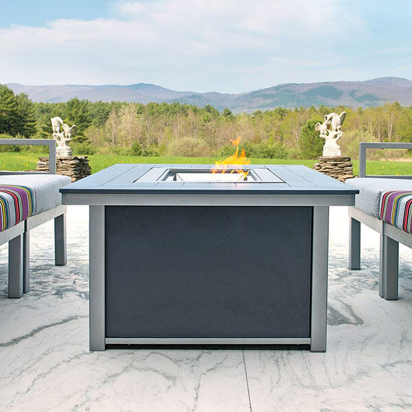 Rectangular Fire Table by Telescope Casual
