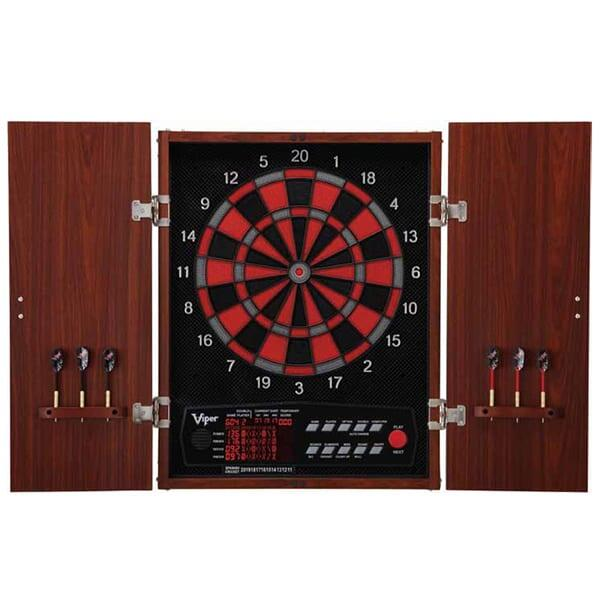 Neptune Electronic Dartboard with Cabinet by Great Lakes Darts