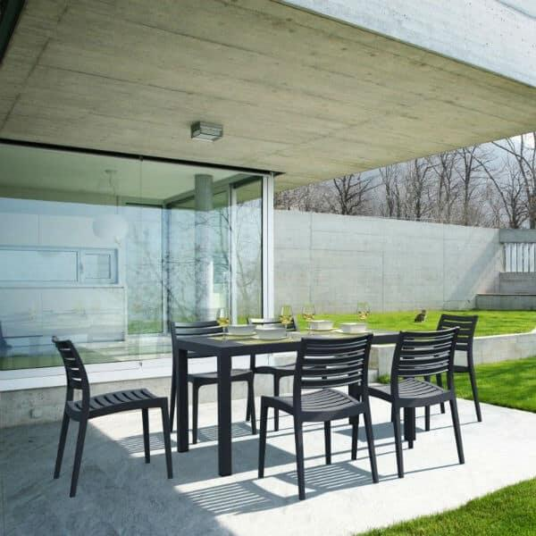 Ares Rectangle Dining - Black by Compamia