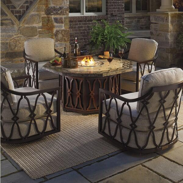 Black Sands Fire Pit Set by Tommy Bahama