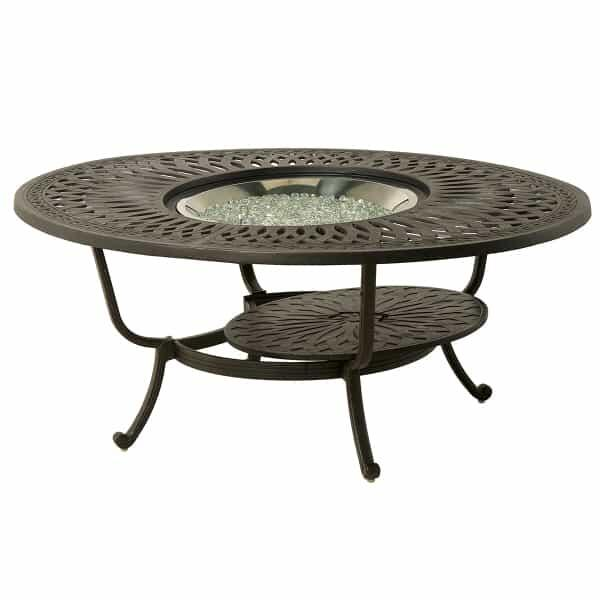 Mayfair 48'' Round Fire Pit Table by Hanamint