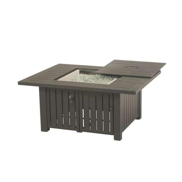 Sherwood Rectangular Enclosed Fire Pit Table by Hanamint