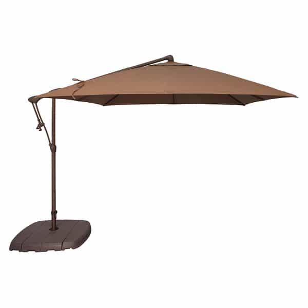 8.5' Cantilevered Umbrella - Square by Treasure Garden