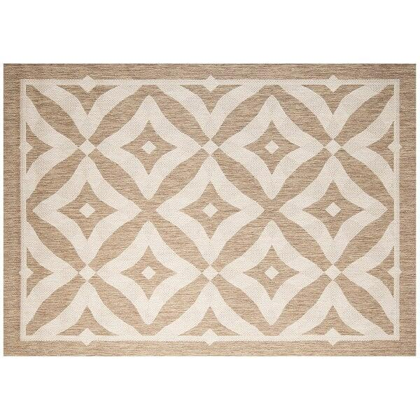 Charleston Outdoor Rug - Honey by Treasure Garden