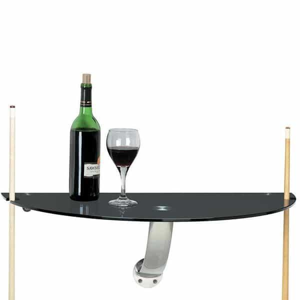 Wall Pub Table - Black Glass by R.A.M. Game Room