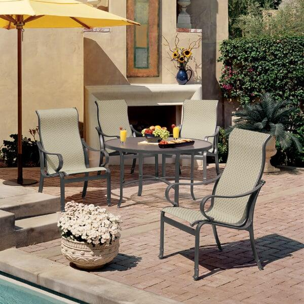 Torino Sling Dining Patio Set by Tropitone