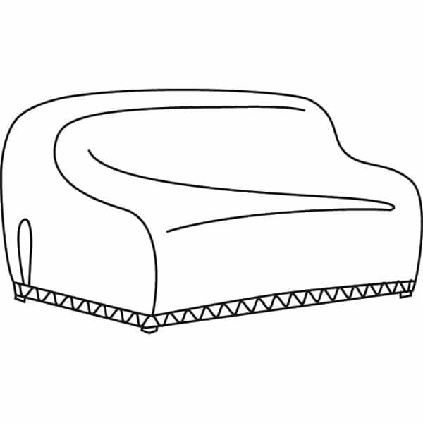 Wicker Sofa Water Resistant Cover by Treasure Garden