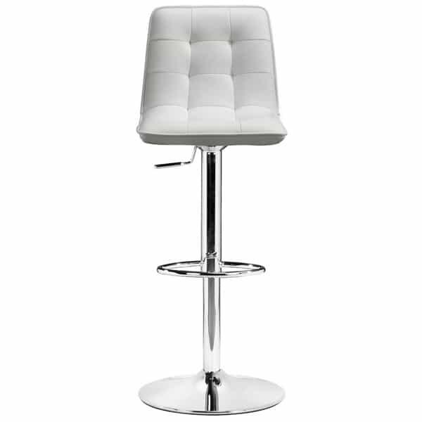 Oxygen Bar Stool - White by Zuo Modern