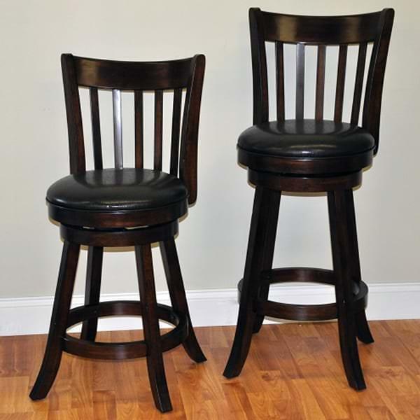 Walnut Slat Counter Stool by ECI Furniture